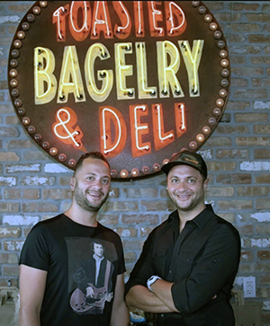 founders and owners of Toasted Bagelry and Deli